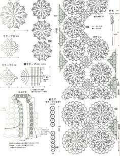 Esquemas de motivos circulares de tricotar