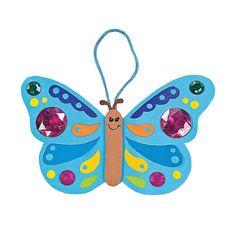 Jewel Butterfly Ornament Craft Kit - OrientalTrading.com