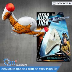 I'm entered to win a Star Trek Command insignia pin and plush Bird Of Prey from of QMx & Loot Crate! #QMxQuesdays