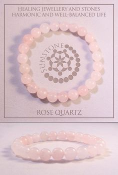 Vintage Rose Quarts Gemstone Bracelet by Sunstone by SunstoneCraft