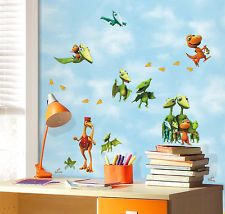 New DINOSAUR TRAIN WALL DECALS Kids Dinosaurs Bedroom Stickers Room Decor