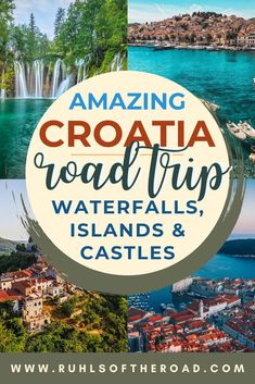 Travel Croatia with our Croatia road trip guide. Things to do Zagreb Croatia, things to do Plitvice Lakes National Park Croatia, things to do Trogir Croatia, things to do Split Croatia, things to do Dubrovnik Croatia. See Croatia beaches, Croatia waterfalls, Croatia island hopping, Croatia castles & try mediterranean foods. Croatia is a great budget mediterranean vacation destination & one of the best place to visit in East Europe. Add Croatia to your Europe trip itinerary & Europe bucket… European Travel Tips, Travel Tips For Europe, Backpacking Europe, Travel Info, Travel Guides, Travel Destinations, Croatia Tours, Croatia Itinerary, Croatia Travel Guide