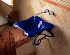 Kohler K-2815-P5-30 Iron Cobalt Dolce Vita Dolce Vita 17-1/2 Cast Iron Vessel Sink K-2815-P5  Review Buy Now