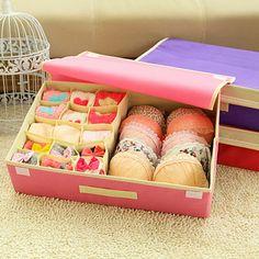 DINIWELL 4PCS Storage Boxes For Ties Socks Shorts Bra Underwear Divider  Drawer Lidded Closet Organizer Ropa Interior Organizador | Pinterest |  Shorts, ...