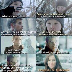 Love this edit of Katniss, Peeta, Gale and Katniss and Peeta's daughter