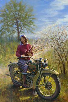 """Vivian Bales: The Enthusiast Girl"" - Limited Editions - All Artwork - David Uhl   Fine Art World"