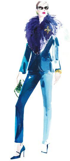 Add a layer of luxe with a collar. Pologeorgis collar, Aidan Mattox.
