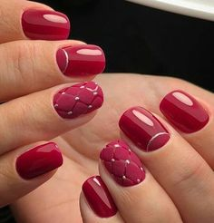 We offer nail designs in different colors for These nail models will suit you very well. How about applying one of the latest nail designs? Shellac Nails French, Red Nails, Latest Nail Designs, Nail Art Designs, Cute Nails, Pretty Nails, Uñas Diy, Moon Manicure, Nagel Bling