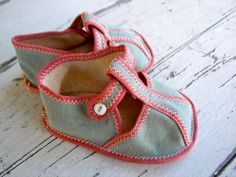 Vintage Baby Shoes or Doll Shoes ON SALE by WinkandMe on Etsy. $10.00 USD, via Etsy.