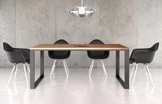 #Esstisch Laholm mit Stahlgestell aus dem COMNATA Esstisch Sortiment #wangentisch #designertisch #esszimmertisch