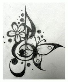 tribal music tattoo designs | Tattoo Design - Treble Cleff 1 by Dawn773