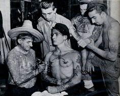 Charlie Wagner at work, May, 1947