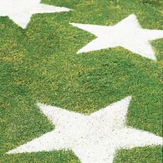 Easy 4th of July lawn stars