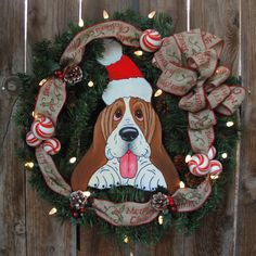"""Make Eggert Nog your official Holiday greeter. He won't jump or drool on your guests either. Eggbert is wired onto a 21"""" x 21"""" wreath (all pieces"""