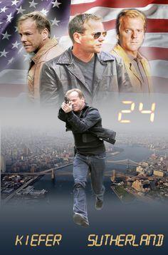 Kiefer Sutherland as Jack Bauer on 24