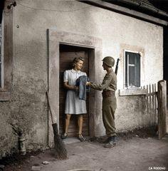 American G.I. in Bavaria Germany ww2 1945