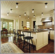 How Choose The Right Ceiling Lighting For Your Kitchen Decorating Ideas  Mediterranean Design