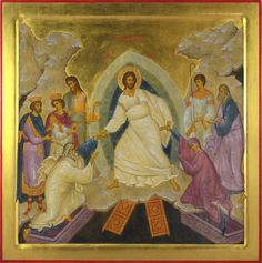 Anastasis (The Holy Resurrection), Wood, geso, tempera, gilding.Tatiana Church in NYC. Early Christian, Christian Art, Religious Icons, Religious Art, Churches In Nyc, Christ Is Risen, Byzantine Icons, Orthodox Icons, I Icon