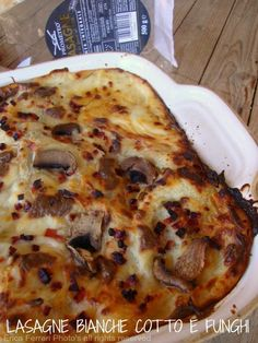 lasagne with mushrooms and ham - Lasagne bianche con funghi e prosciutto cotto