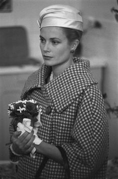 Grace & Family:   Grace Of Monaco Visits The Flowers City, Paris, France, October 14, 1959.