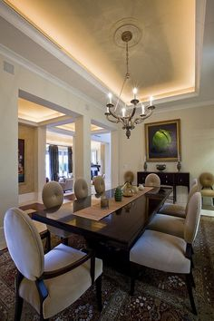 contemporary diningroom 25 I would need a different chandelier