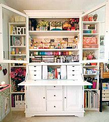 Craft Armoire For Loft But In Black, Plus A Spot For The Sewing Machine