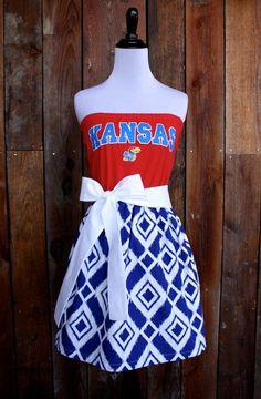 University of Kansas KU Jayhawks Game Day Dress by Jill Be Nimble on Etsy