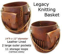 Leather bucket for your knitting $587.50