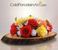 Cold Porcelain Art - Centerpieces - Spring Roses 1.jpg (570×488)