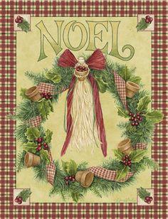 CHRISTMAS NOEL WREATH, CLIP ART