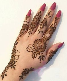 Latest New Henna Mehndi Designs 2018 2019 Catalog Book Finger Henna Designs, Henna Art Designs, Mehndi Designs 2018, Mehndi Designs For Beginners, Mehndi Design Photos, Mehndi Designs For Fingers, Unique Mehndi Designs, Beautiful Mehndi Design, Arabic Mehndi Designs