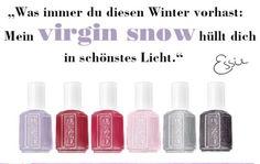 Gewinne alle 6 essie Virgin Snow Nagellacke!  Schnell auf www.facebook.com/Beautytesterin.de teilnehmen und gewinnen!