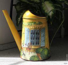 Декупаж - Сайт любителей декупажа - DCPG.RU | Мои леечки Click on photo to see more! Нажмите на фото чтобы увидеть больше! decoupage art craft handmade home decor DIY do it yourself watering can
