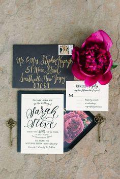 Wedding invitation idea; photo: Michelle Lange