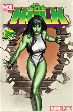 Green and savage she-hulk Auction your comics on http://www.comicbazaar.co.uk