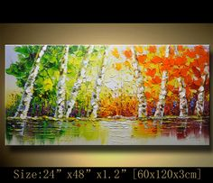 contemporary wall art, Palette Knife Painting,colorful tree painting,wall decor , Home Decor,Acrylic Textured Painting ON Canvas by Chen w40 by xiangwuchen on Etsy https://www.etsy.com/listing/216819800/contemporary-wall-art-palette-knife