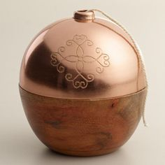 Copper Twine Holder at Cost Plus World Market >> #WorldMarket Thanksgiving Entertaining #Holiday