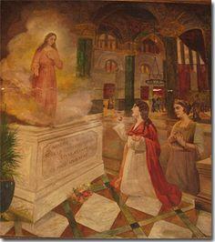 Se le apareció Santa Águeda acompañada de muchos Ángeles.