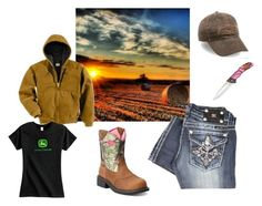"""""""Wrappin Bails"""" by johndeerebabe ❤ liked on Polyvore featuring Miss Me, Carhartt, Ariat, John Deere, women's clothing, women, female, woman, misses and juniors"""