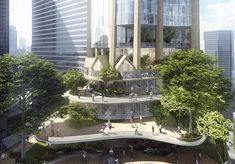 """MAD Architects was shortlisted for its """"Urban Tree"""" concept as part of the Southbank by Beulah competition to build Melbourne's largest skyscraper. Interior Exterior, Luxury Interior, Biophilic Architecture, Architects Melbourne, Sky Pool, Mixed Use, Skyline, Architect Design, Luxury Homes"""