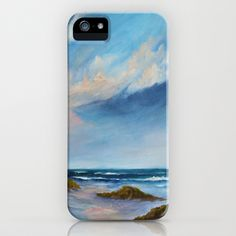 Summer Showers iPhone & iPod Case by Rosie Brown - $35.00 #iphone #ipod #case #beach #seascape #art #acrylic #society6 #beach #seascap