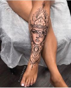 Feminine Tattoos, Girly Tattoos, Mom Tattoos, Body Art Tattoos, Tatoos, Feminine Tattoo Sleeves, Girl Leg Tattoos, Girls With Sleeve Tattoos, Spine Tattoos