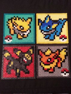 Pokémon Perler Coasters Magnets & Ornaments door AshMoonDesigns