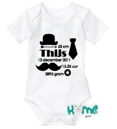 Geboorte romper/shirt jongen