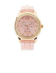 Bling Rubber-Link Watch: Charlotte Russe