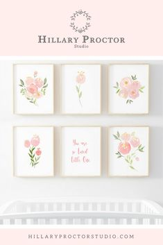 Nursery wall art for the little girl nurseries. Floral nursery wall decor for little girls room. Watercolor nursery art for the home and nurseries. Nursery decor and inspiration. Nursery Wall Decor, Nursery Art, Boho Nursery, Room Decor, Baby Girl Nursery Themes, Girl Nurseries, Nursery Ideas, Baby Boy Decorations, Nursery Paintings