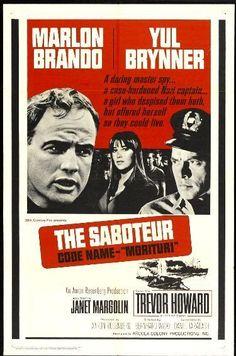 SABOTEUR -1965 - orig 27x41 movie poster - MARLON BRANDO, YUL BRYNNER