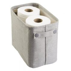 mDesign Cotton Fabric Bathroom Storage Bin for Magazines, Toilet Paper, Bath Towels - Large, Light Gray Bathroom Organization, Bathroom Storage, Storage Organization, Bathroom Bin, Storage Ideas, Master Bathroom, Best Toilet Paper, Toilet Paper Storage, Plastic Storage