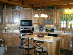 Rustic Kitchen with Hickory Cabinets