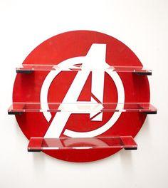 Hang a Shelf Over a Door or Window for Display Items Funko Pop Display, Display Shelves, Avengers Room, Marvel Avengers, Regal Display, Vinyl Shelf, Ladder Shelf Diy, Geek Decor, Kids Room